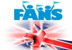 add Real and active 200+ UK Facebook Fanpage like