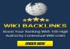 Boost Your Ranking With 100 High Authority Contextual Wiki Links