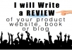 write a review for your product, blog or website