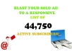 Send 41,835real solo ads/email blast to your website