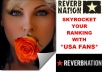 give You 250 USA Reverbnation Fans To Skyrocket Your Ranking In The Charts