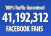 promote your link to 41,192,312 real facebook fans