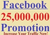 share your website to 25 Million Facebook Fans and Twitter Followers