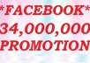 share your Website to 34 Million Facebook fans and Followers for get traffic