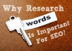 Do Indepth SEO Keyword Research, Golden Keywords