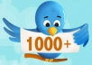 Add Real and active 1000+ USA Twitter followers