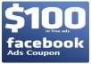 Give you $100 Facebook Coupons Method + 7 BONUS
