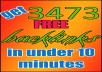teach you how to get 3473 BACKLINKS to your website absolutely free in less than 10 minutes