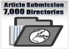 spin and submit your article to 7000+ Directories Get 500 Google Backlinks