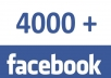 send you 4000 Faceboook likes
