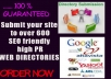 Submit your website to over 600 SEO friendly high PR WEB DIRECTORIES