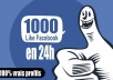 give you 1000 likes to your fbook page in 2hours