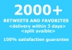 provide 2000 twitter retweets and favorites