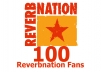 add 100 Reverbnation Fans