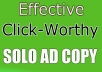 Write 2 Call To Action Solo Ad Copy