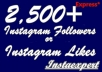provide 2500 Instagram Followers Or Likes in Your your pictures