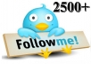 give 2500 real twitter followers