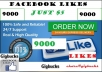 promote Facebook fan page and get you 9000 Real likes