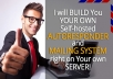 build your OWN Autoresponder and Mailing System like Aweber or Mialchimp right on your OWN Server