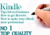 give you Tips/Advice/Guidance/How to get Reviews/how to make your eBook more professional