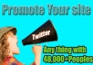 place Your Site Or Anything with 48,000 USA real Peoples