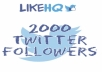 give you 2000+ Twitter USA Followers within 12-24 Hours
