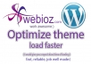 Optimize your Wordpress theme to load faster