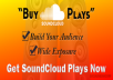 increase your Soundcloud Plays 20000+ within 12-24 Hours
