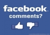 Add 20+ Real USA/UK Comments on your Facebook photo,post or Video