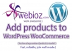 Add products to WooCommerce for WordPress