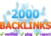 submit your website to over 2000 backlinks