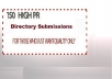 submit Your Site to 150 High PR Directories Manually