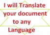 translate your document to your desired language