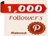 give you 1000 Pinterest Followers 100% real and genuine