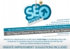 provide complete SEO report based on 5 keywords