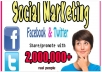 promote anything on Facebook or Twitter