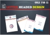 professionally create letter head Paper,business card,envelope