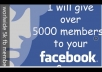 add 5000 active and real facebook group members
