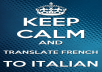translate French to Italian