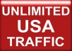 drive unlimited USA traffic to your site for 2 months