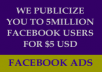 Send Your Links To 5 Million People On Facebook With Proofs Soon After Ordering + bonus