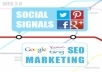 add powerful social SIGNALS from top social sites to boost your seo