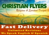 design a creative flyer with christian elements.