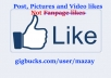get 500 real FACEBOOK Photo, Post, Video Likes