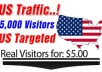 send over 3000 USA Real & Unique Visitors to your site