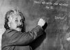 make Einstein write your message on blackboard