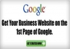 Boost Your website rank on the first page of google guaranteed with my seo
