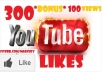 deliver 200YouTube Likes 300Subscribers 50comments