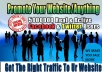 Promote your website or anything to 100,000,000 U.S.A facebook and twitter users for ONE MONTH