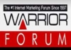 make 5 comment with different 5 account at Warrior forum